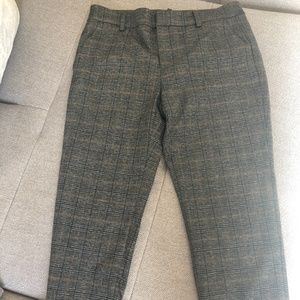 ZARA PLAID TROUSERS